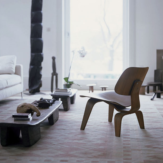 fireside chair plywood by charles u ray eames lcw
