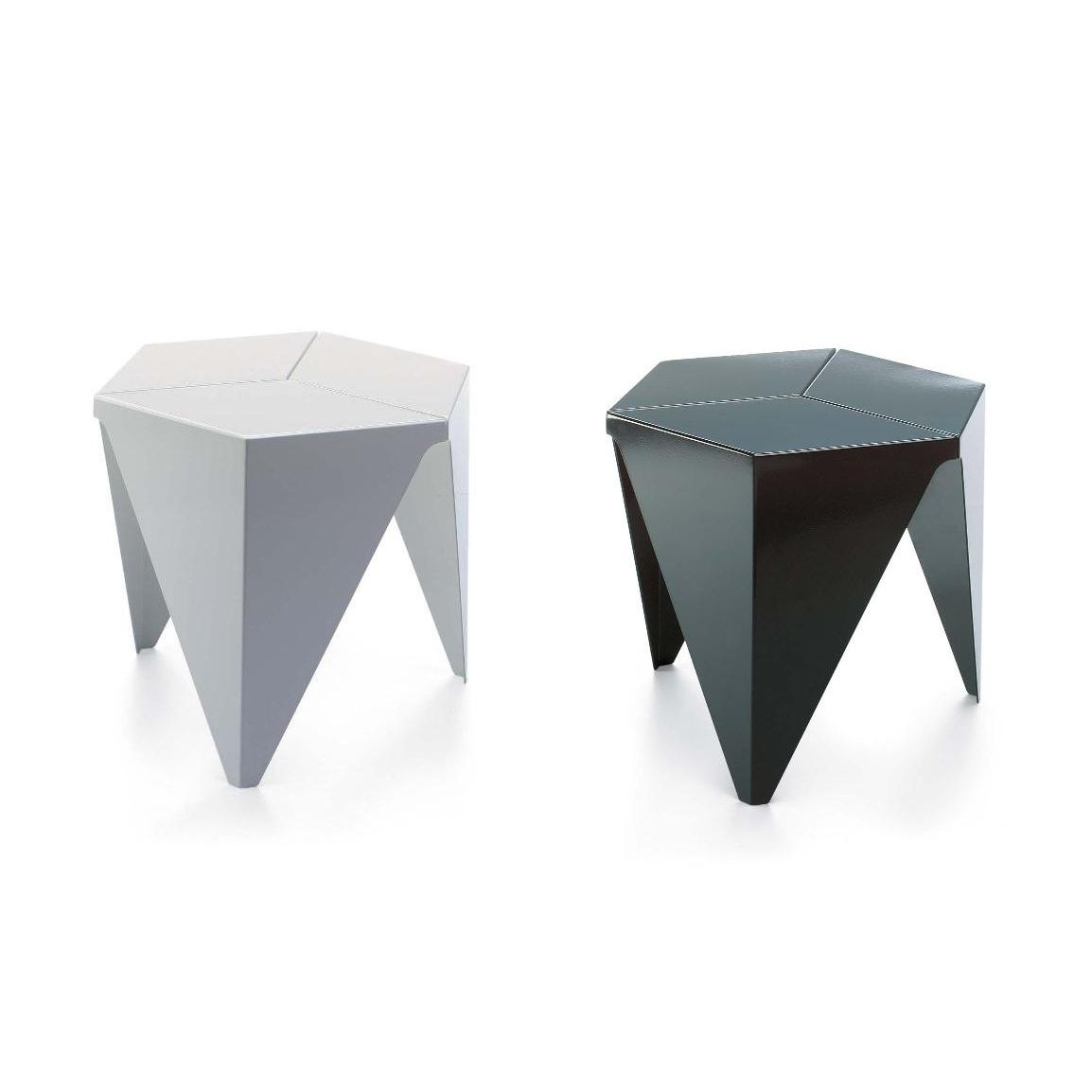 Bien-aimé Contemporary side table / aluminum / hexagonal / by Isamu Noguchi  QY06