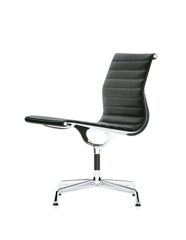 fabric conference chair leather aluminum swivel ea vitra