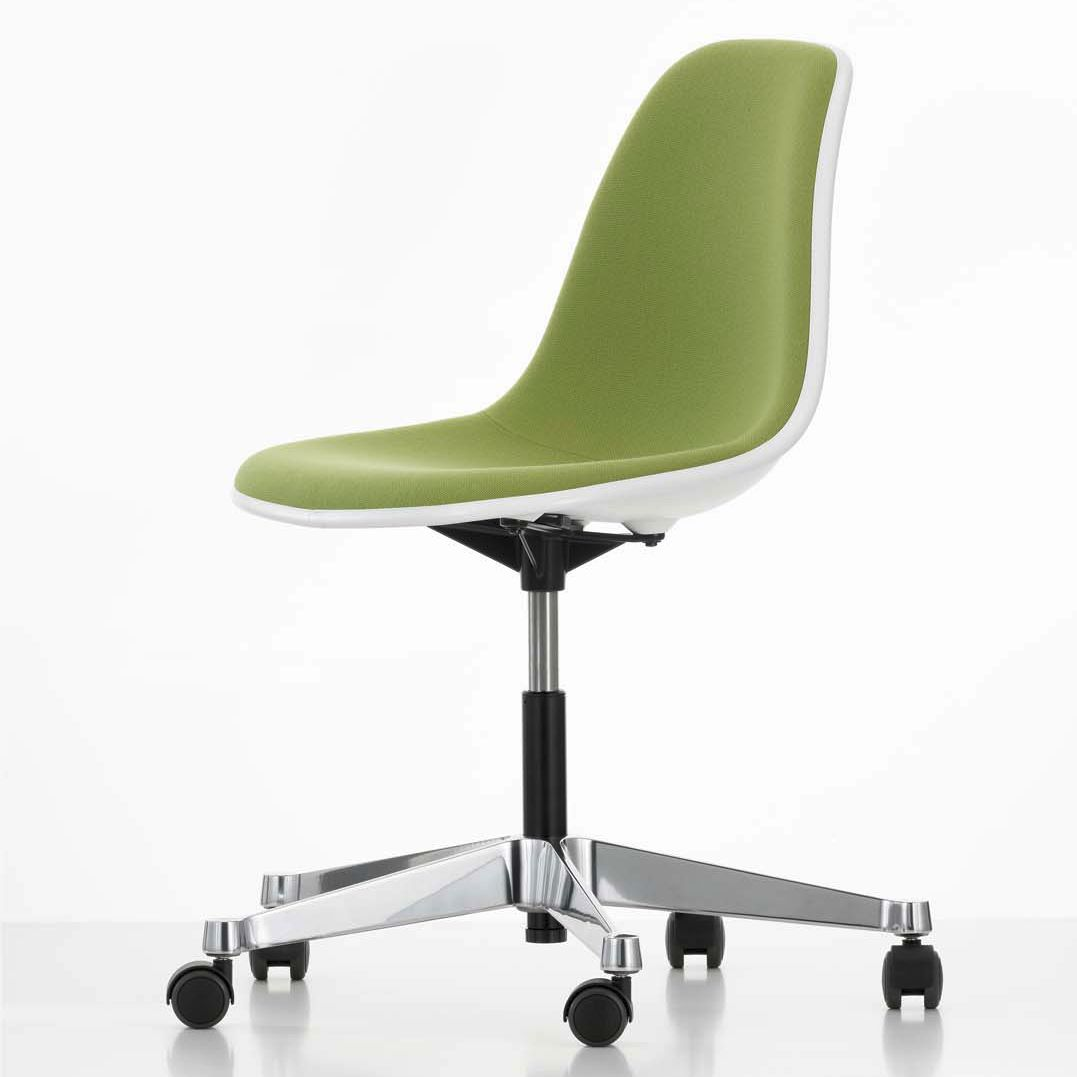 Contemporary office chair plastic aluminum on casters PSCC