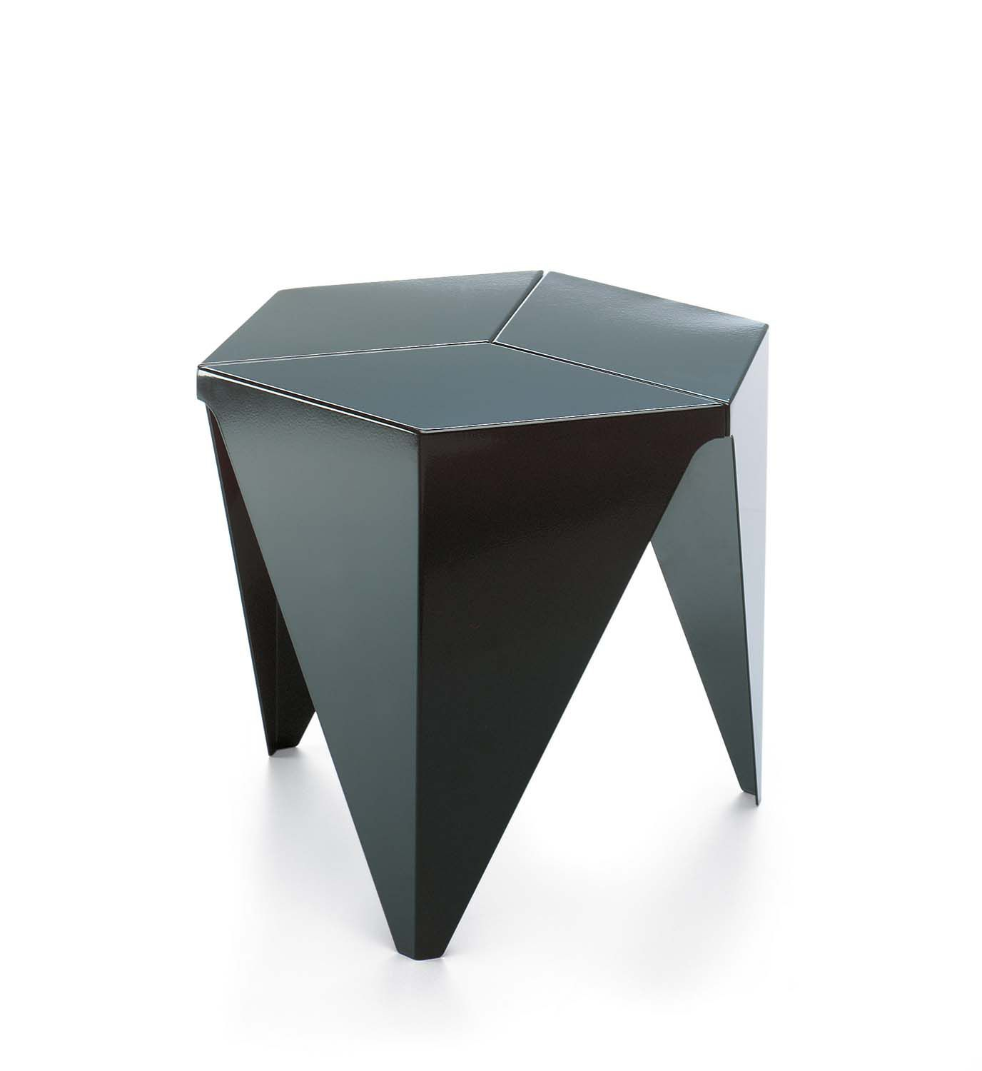 Contemporary side table aluminum hexagonal by Isamu Noguchi