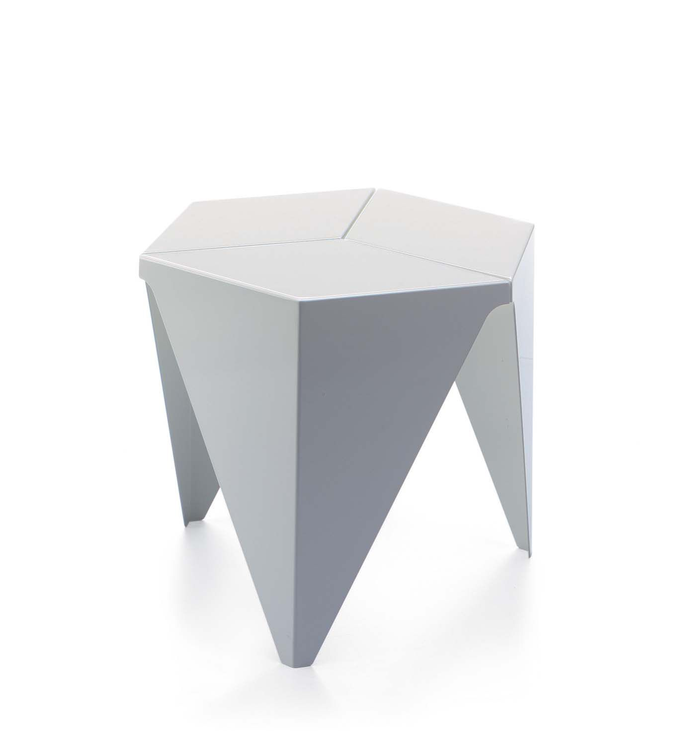 Populaire Contemporary side table / aluminum / hexagonal / by Isamu Noguchi  NG46