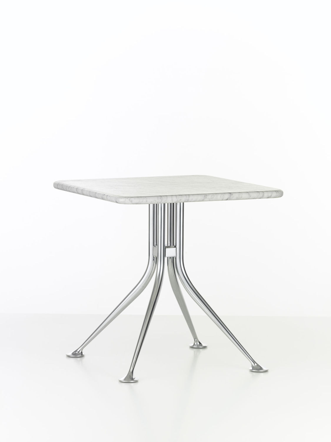 ... Contemporary Side Table / Marble / Aluminum / Round SPLAYED LEG By  Alexander Girard Vitra ...