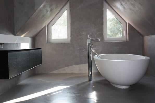 Toilet Beton Cire : Beton cire bton cir enduit bton color mercadier couleurs et
