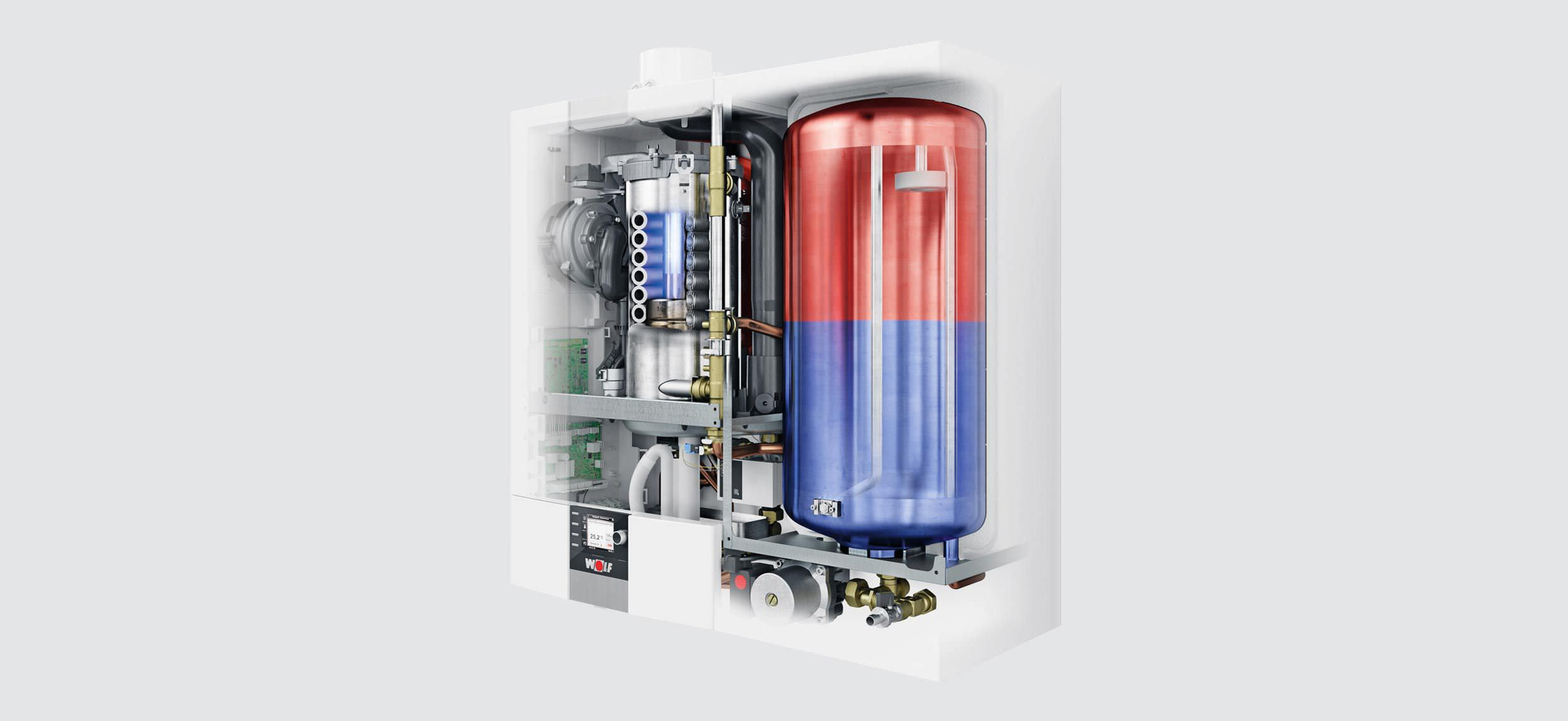 Gas boiler / wall-mounted / residential / condensing - CGW-2 - WOLF