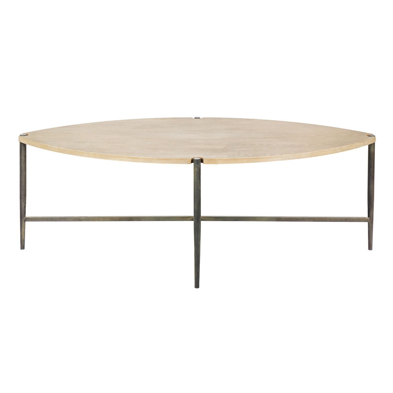 Contemporary Coffee Table Wooden Metal Jimmy Blanc Divoire