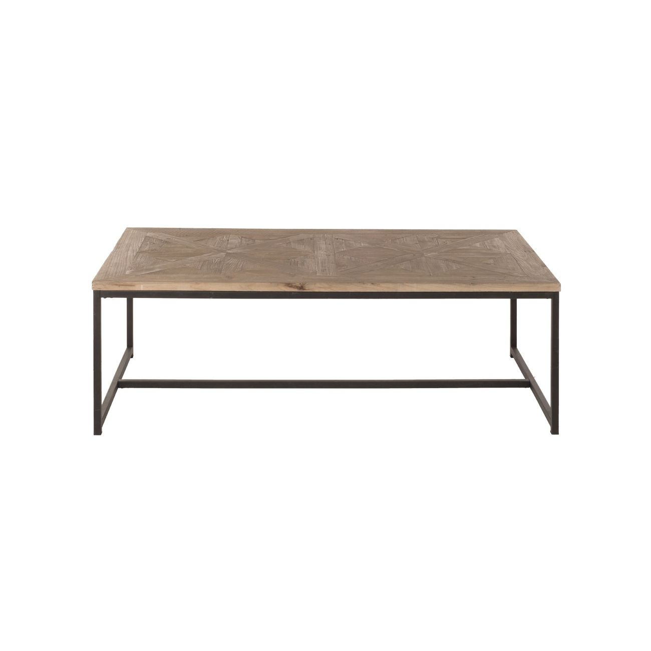 Contemporary Coffee Table Wooden Metal Rectangular Jules