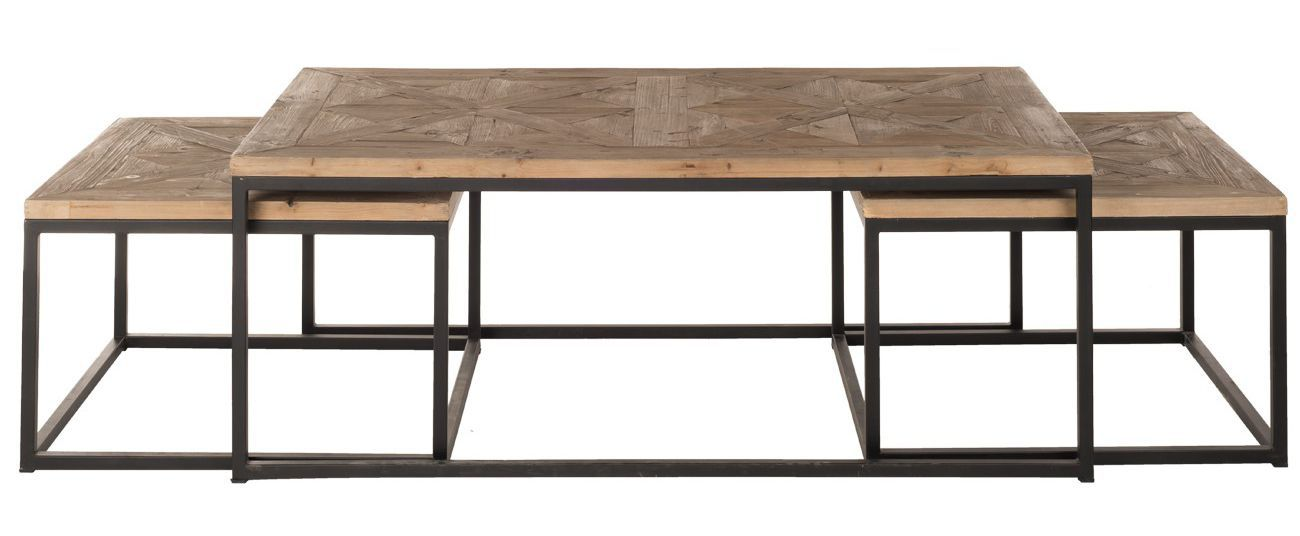 contemporary coffee table wooden metal rectangular