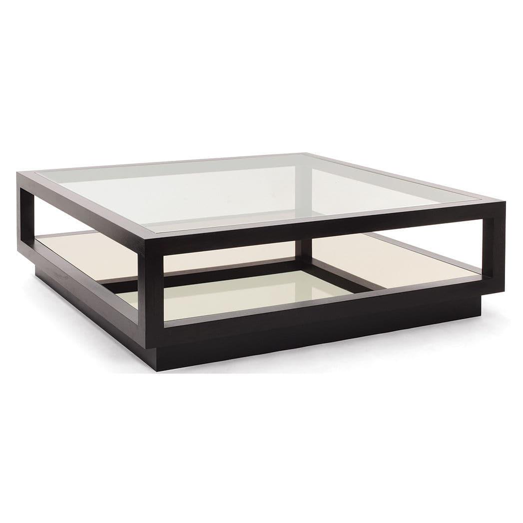 Contemporary Square Coffee Tables contemporary coffee table / glass / square - infinity - decorus