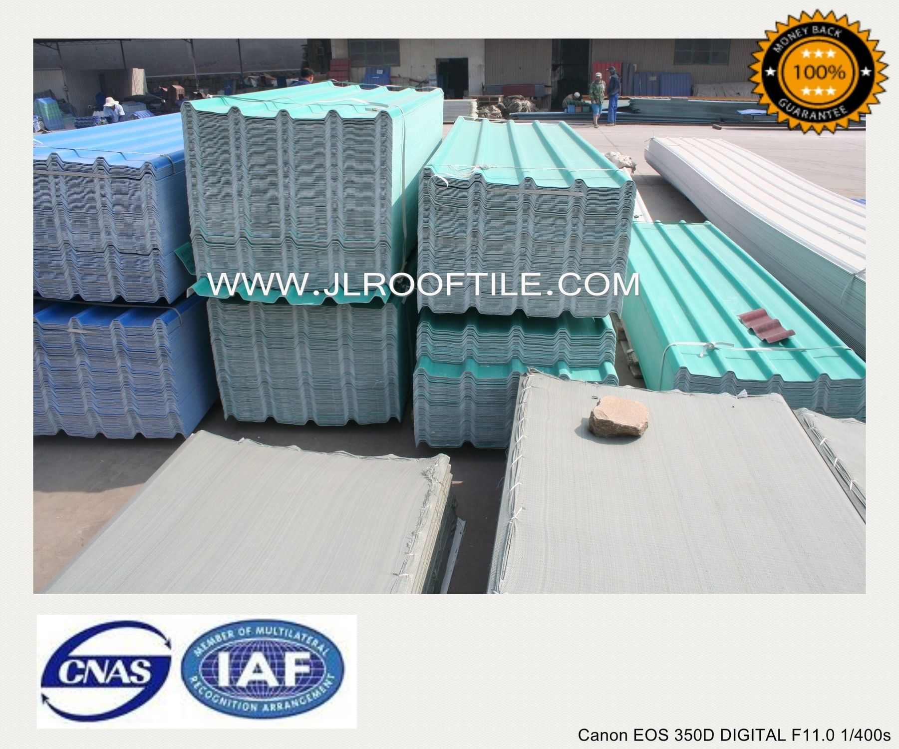 PVC Roofing Sheet / Corrugated   JIELI PVC WAREHOUSE ROOFING MATERIAL