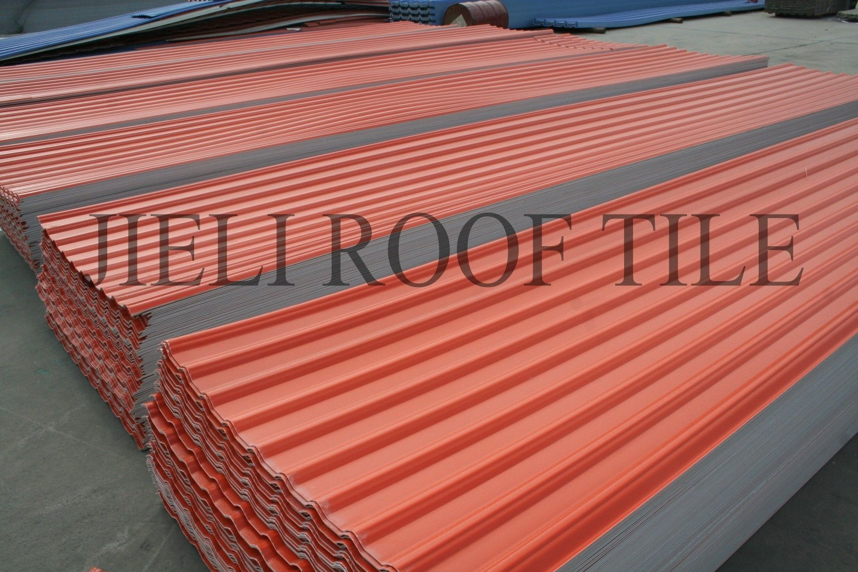 Composite Roofing / Ribbed   REINFORED FIBERGLASS ROOF TILE