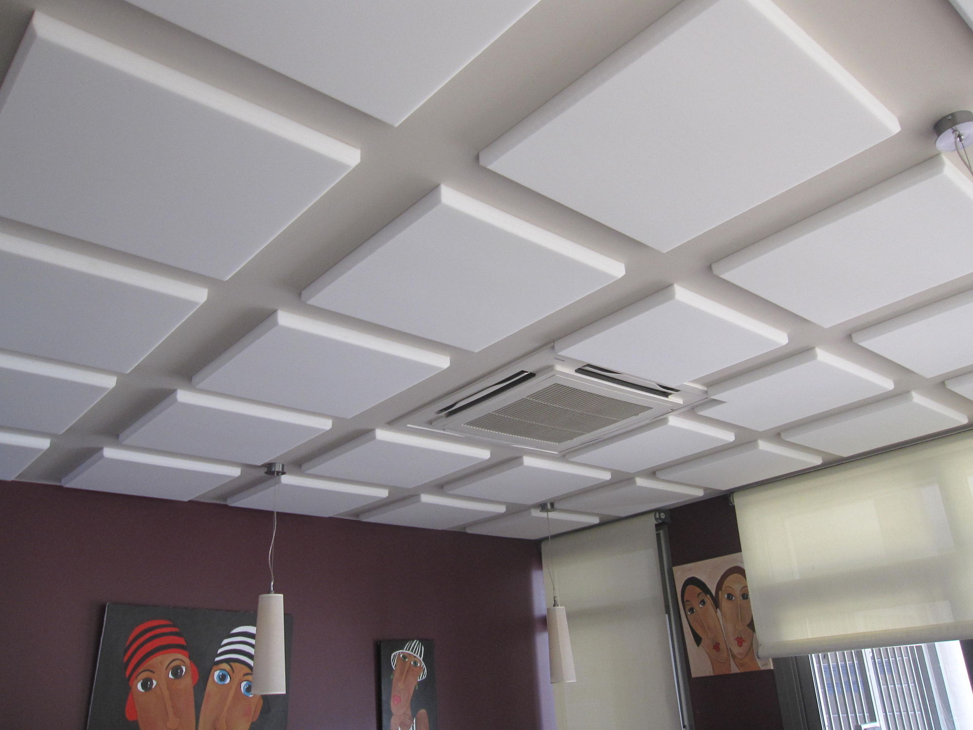Foam Suspended Ceiling Tile Panel Acoustic Capteur Acoustissimo MÉlamine