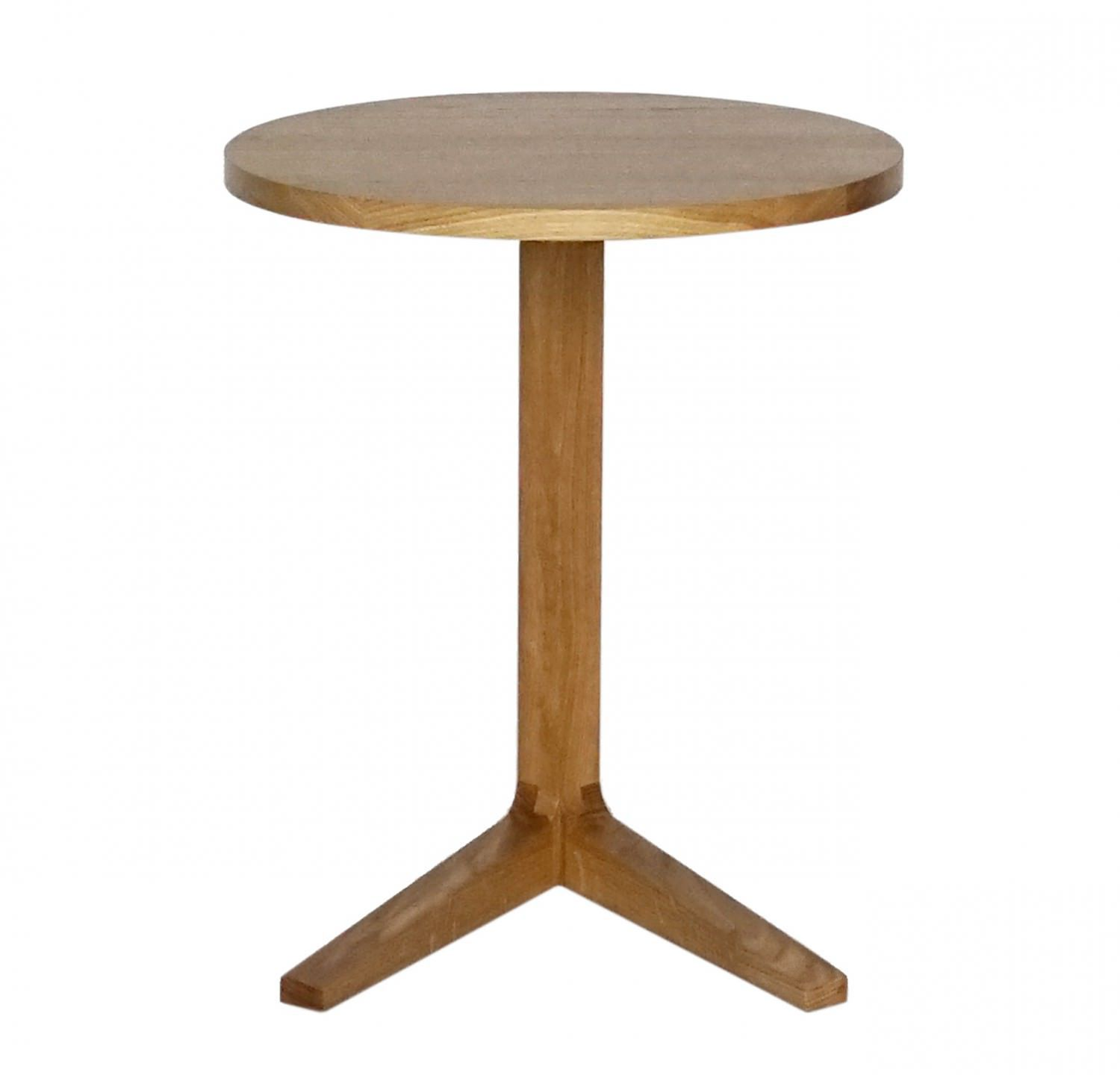 Contemporary side table wooden round CROSS by Matthew Hilton