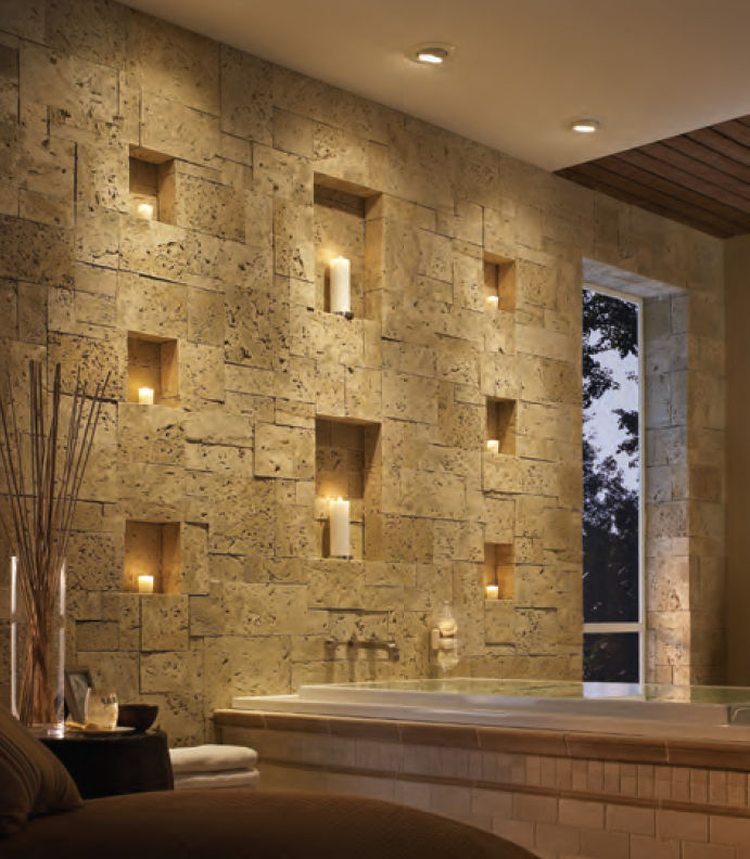 Natural stone wall cladding panel / interior - COASTAL REEF ...