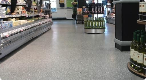 ... Epoxy Resin Flooring / Terrazzo / Smooth / Concrete Look MONDÉCO  CRYSTAL ICE Flowcrete UK ...
