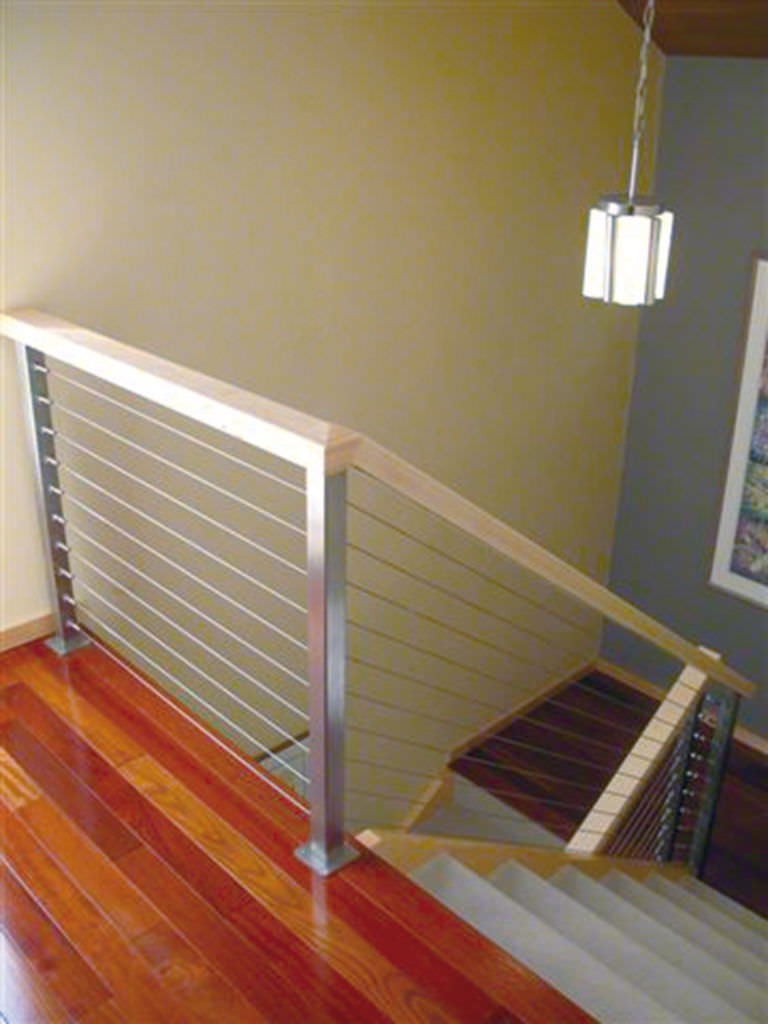 stainless steel railing cable indoor for stairs square line q railing  europe.