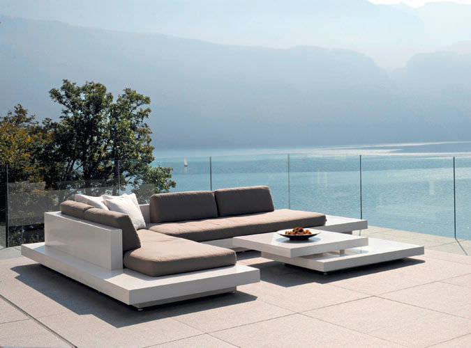Modular Sofa / Contemporary / Outdoor / Fiberglass   PLATFORM By Florian  Viererbl