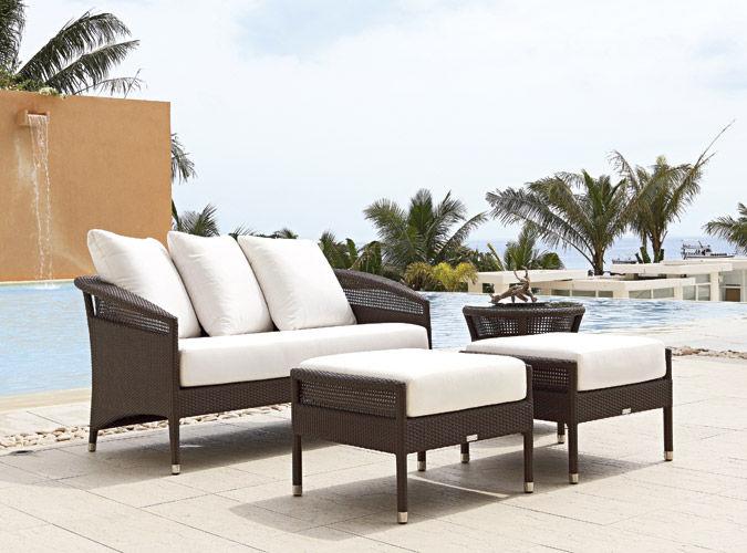 Modular sofa / contemporary / outdoor / synthetic fiber - FLORIDA ...