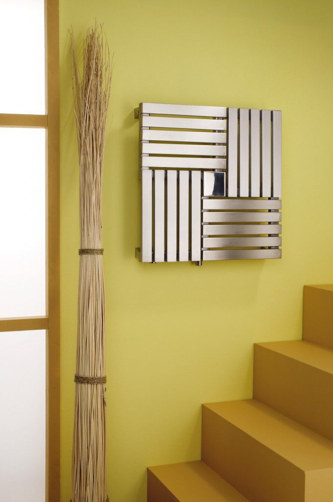Delightful ... Hot Water Radiator / Stainless Steel / Contemporary / Square