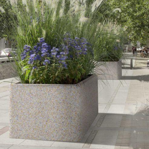 concrete planter hexagonal round rectangular