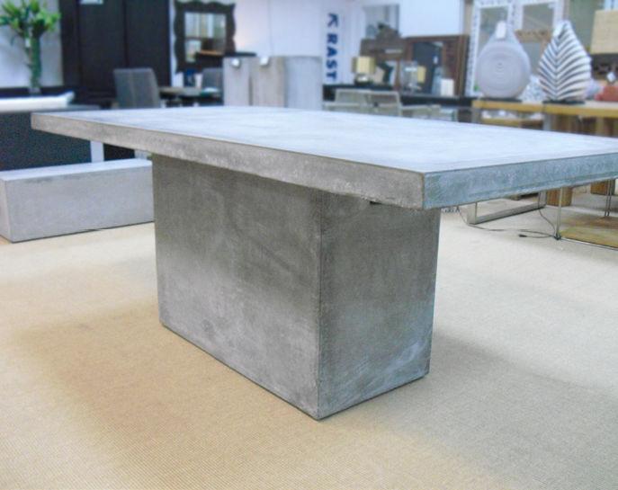 Contemporary Dining Table Fiber Reinforced Concrete Rectangular Garden