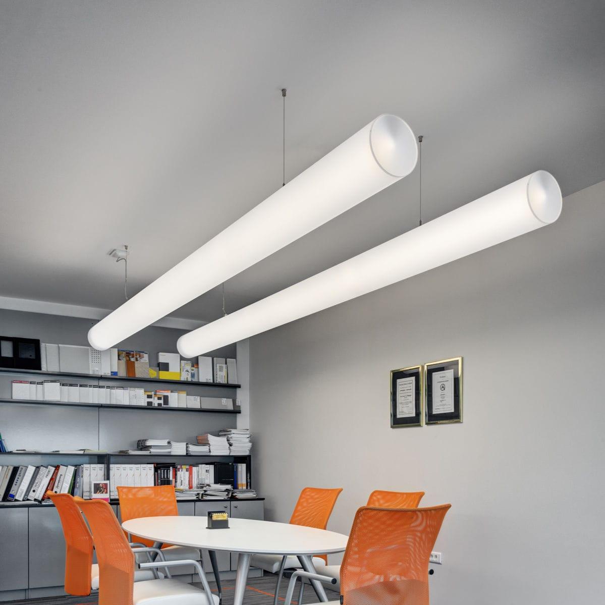 Hanging light fixture / LED / fluorescent / linear - TUBE 200 - Buck ...