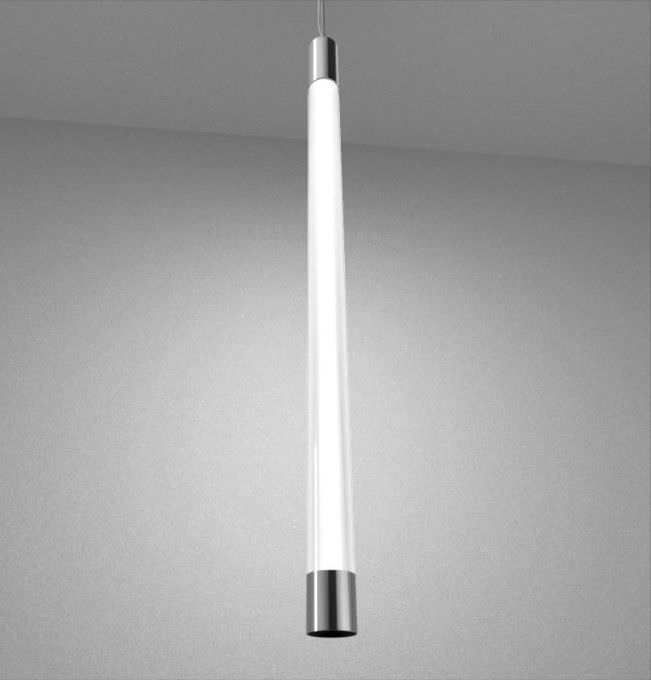 Hanging light fixture / LED / linear / stainless steel - TUBE DOWN ...