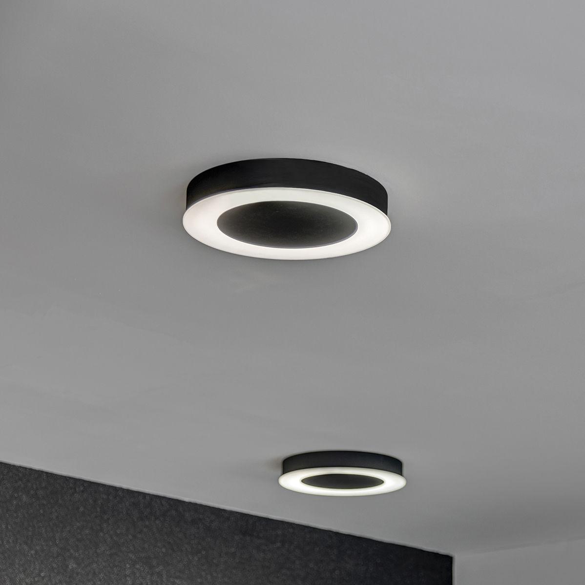 Contemporary ceiling light round sheet metal polycarbonate