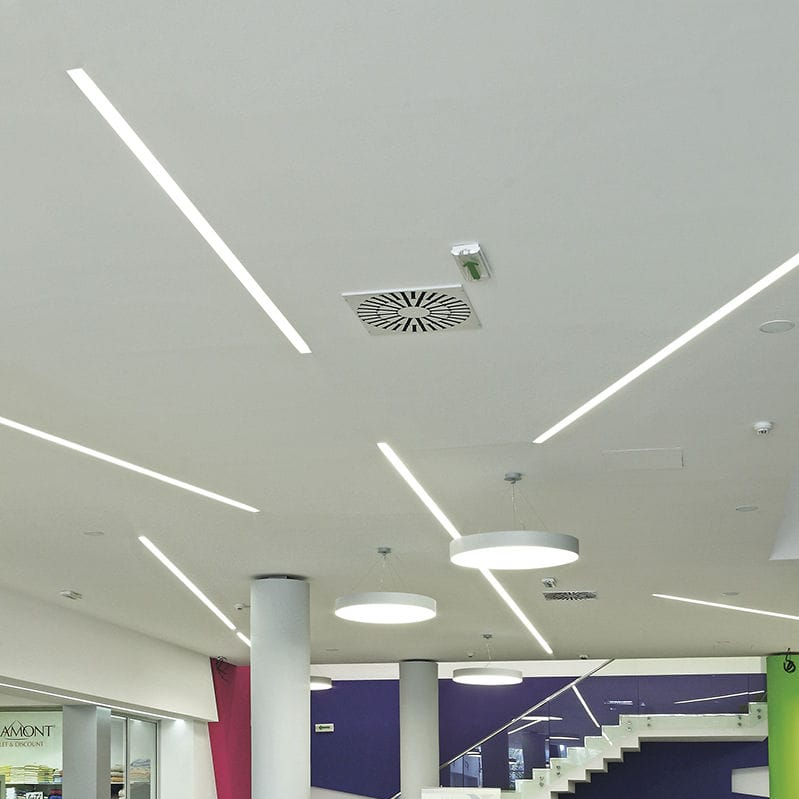 Recessed ceiling light fixture / LED / fluorescent / linear - SLIM ...