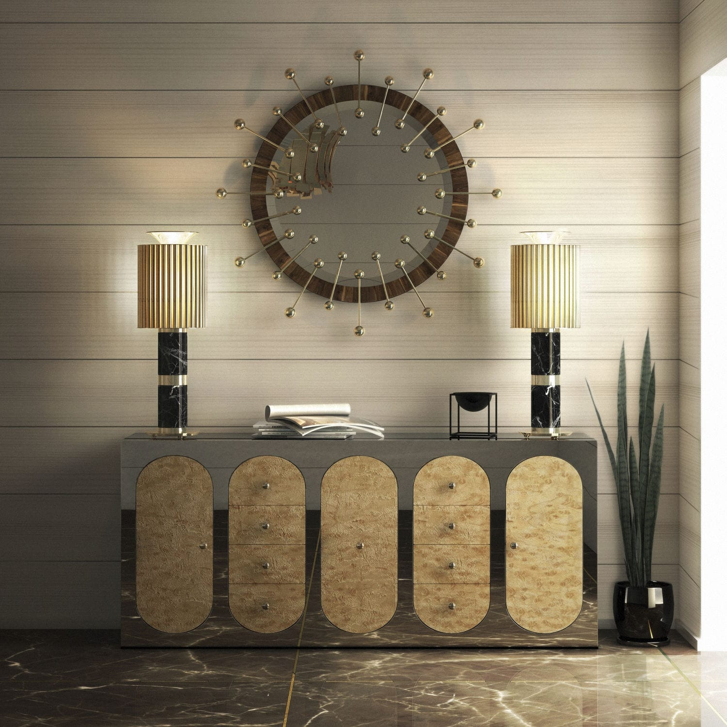 Table lamp / contemporary / marble / brass DONNA DelightFULL ...