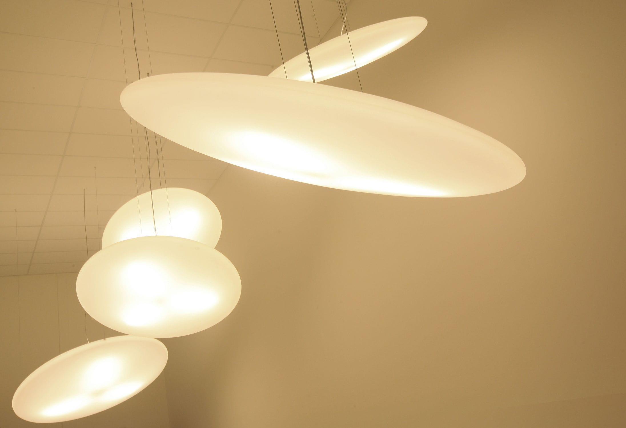 Hanging light fixture / LED / round / polyethylene - FOOL MOON by ... for Moon Lamp Hanging  54lyp