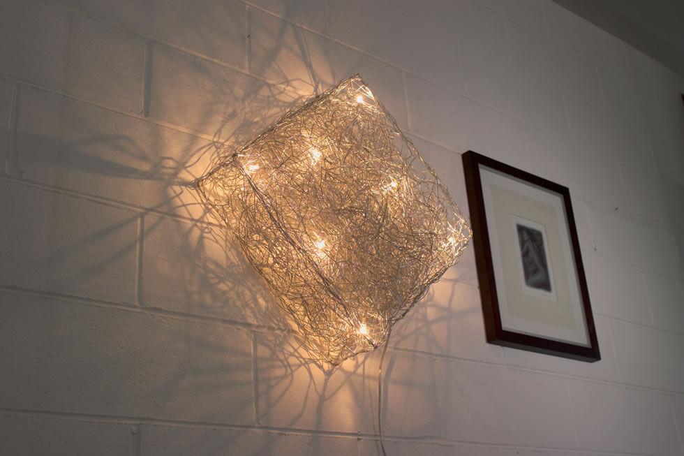 Contemporary wall light aluminum led modular quadro p pl