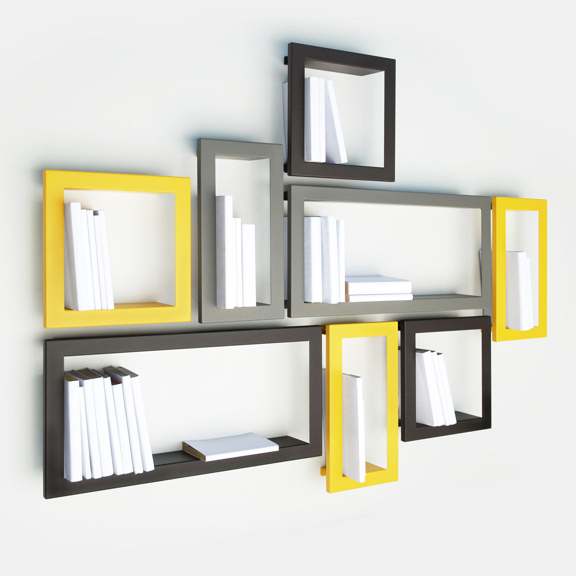 Wall mounted shelf contemporary metal lacquered metal
