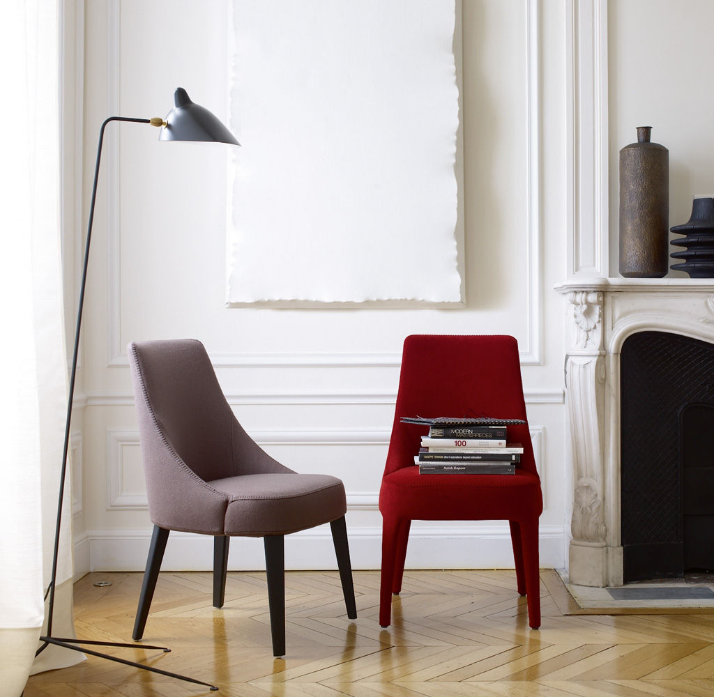 Contemporary Chair / High Back / Fabric / Leather ...