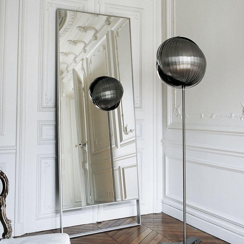 Free-standing mirror / contemporary / rectangular / metal - MAXALTO