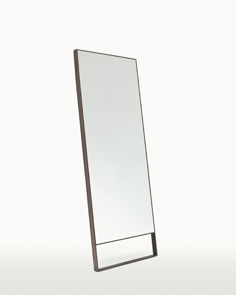 mirror rectangular metal maxalto