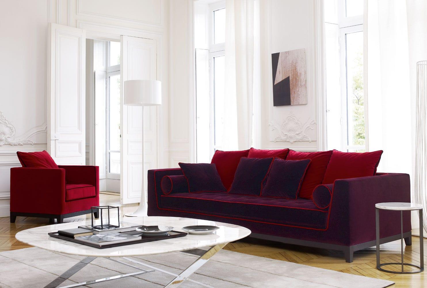 contemporary sofa / leather / fabric /antonio citterio