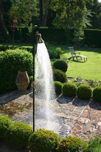Pool garden shower / wooden / stainless steel / residential - SHOW\'R ...