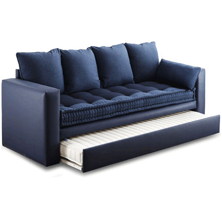 Etonnant Contemporary Sofa / Fabric / With Trundle Bed / Blue   EXTRAS