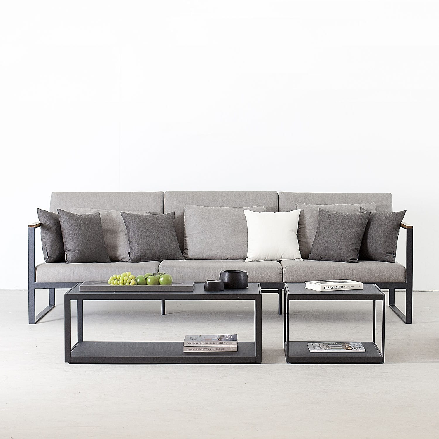 Contemporary sofa / garden / teak / stainless steel - EASY by ...