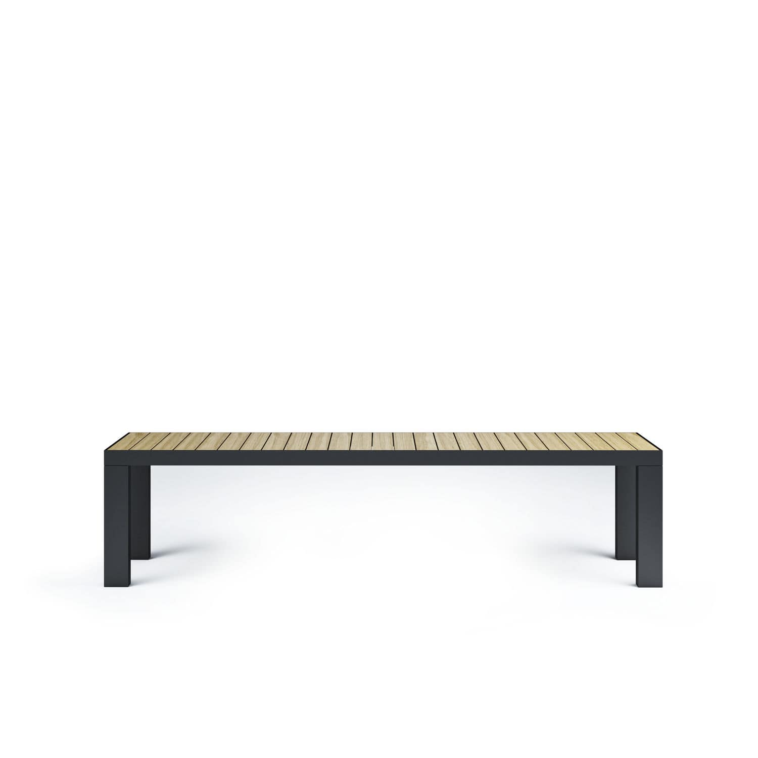 garden bench  contemporary  teak  stainless steel  garden by  -  garden bench  contemporary  teak  stainless steel garden by broberg ridderstråle röshults