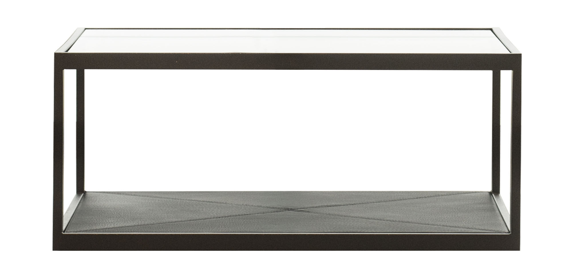 Contemporary coffee table glass leather iron MONACO by