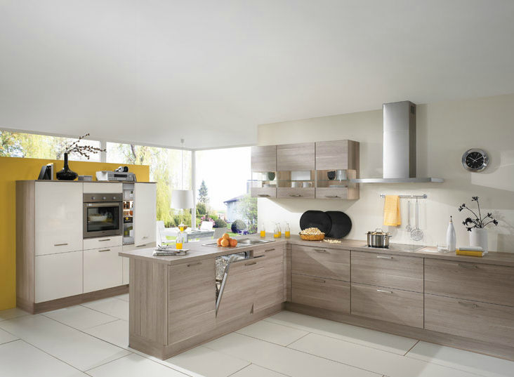 Contemporary Kitchen Solid Wood Wooden With Handles Rio 689