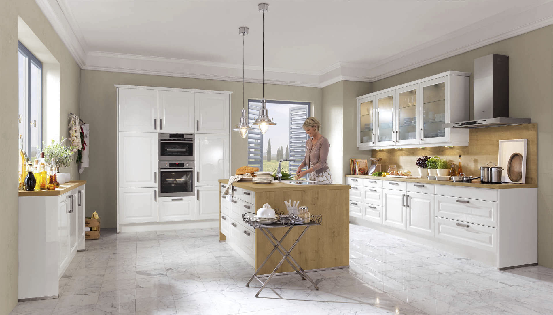Cuisine blanc gris bois: cuisine design ou la magie du blanc ...
