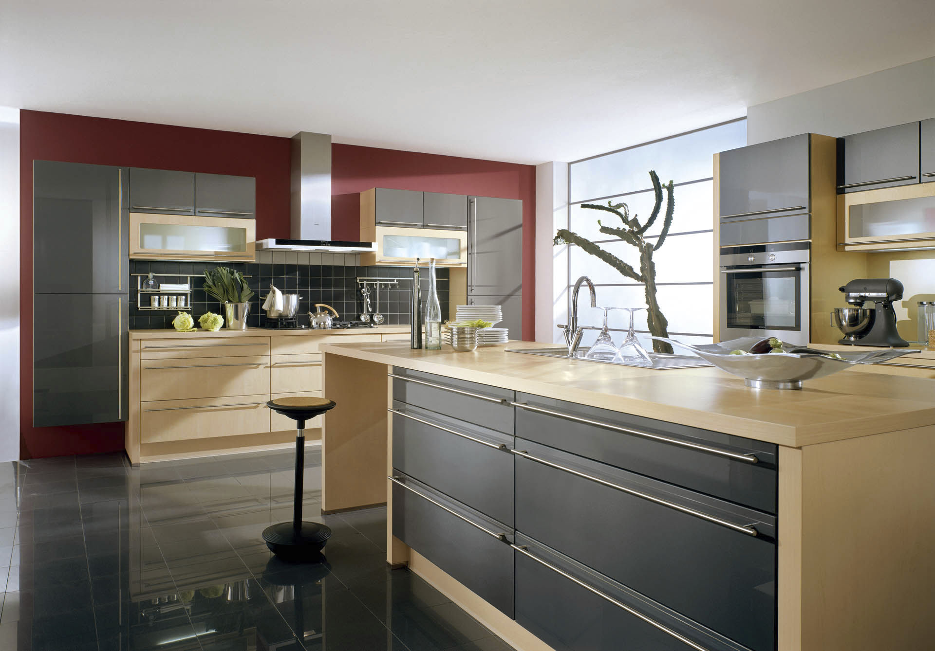 Contemporary Kitchen Wooden Lacquered XENO Nobilia - Nobilia cuisine