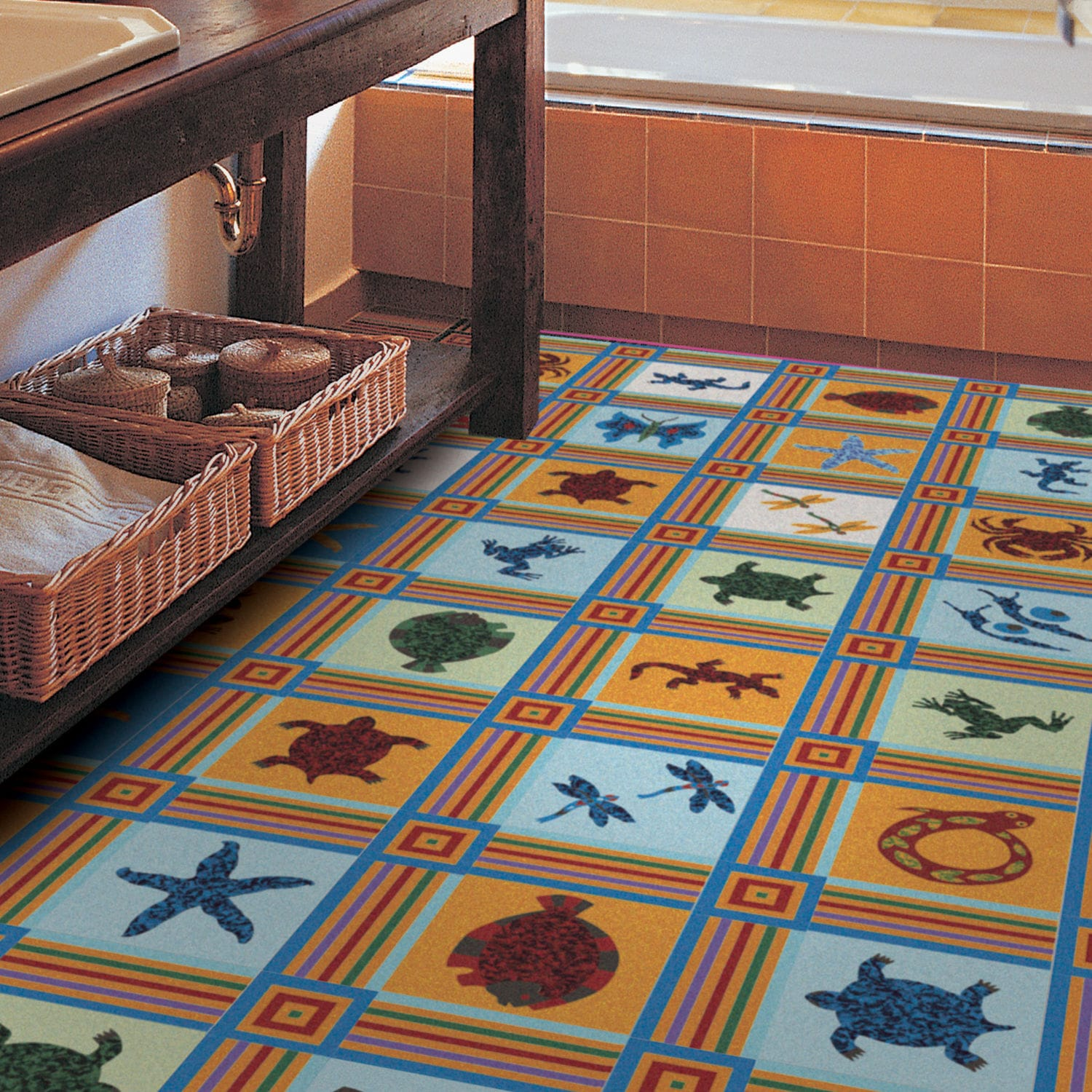 Indoor encaustic cement tile floor wall patterned fancy indoor encaustic cement tile floor wall patterned fancy animals by martine murat dailygadgetfo Choice Image
