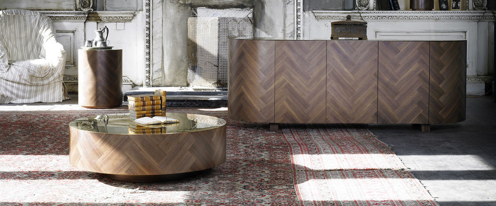 Contemporary Coffee Table / Walnut / Brass / Oval PARQ LIFE By Lee Broom  Deadgood ...