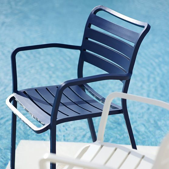 Contemporary Garden Chair / With Armrests / Aluminum   OCEAN