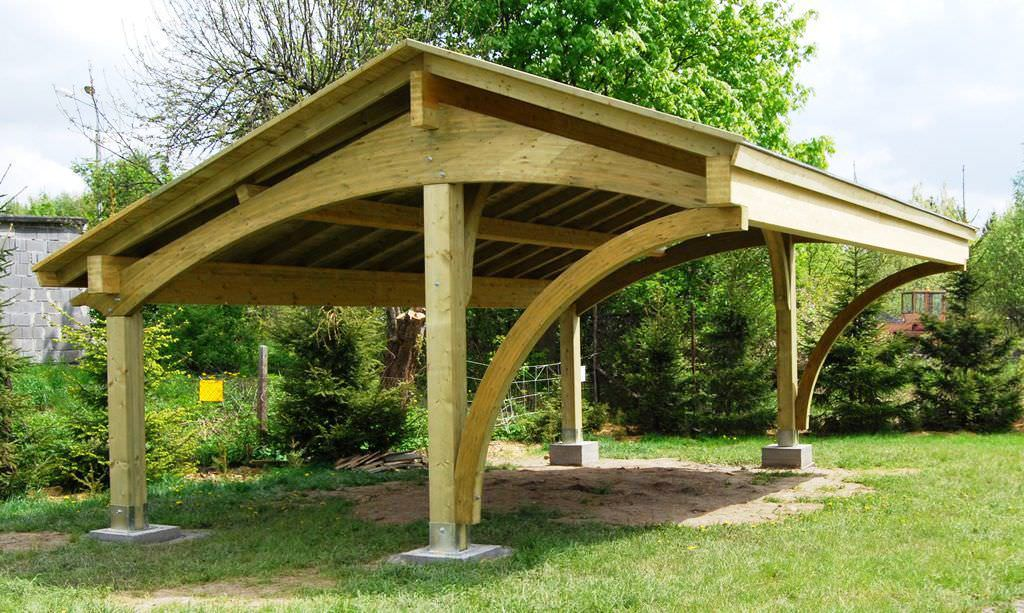 Wooden Carport REVELATIO EcoCurves - Car port bois
