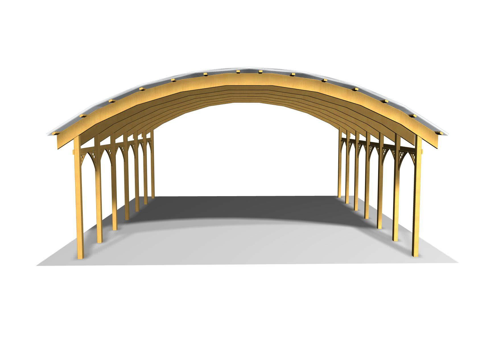 Pvc carport wooden conwy ecocurves